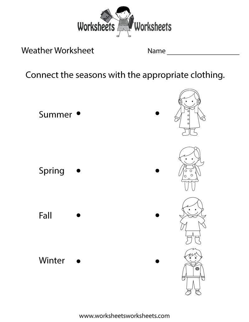 Fun Weather Worksheet Printable   Weather worksheets [ 1035 x 800 Pixel ]