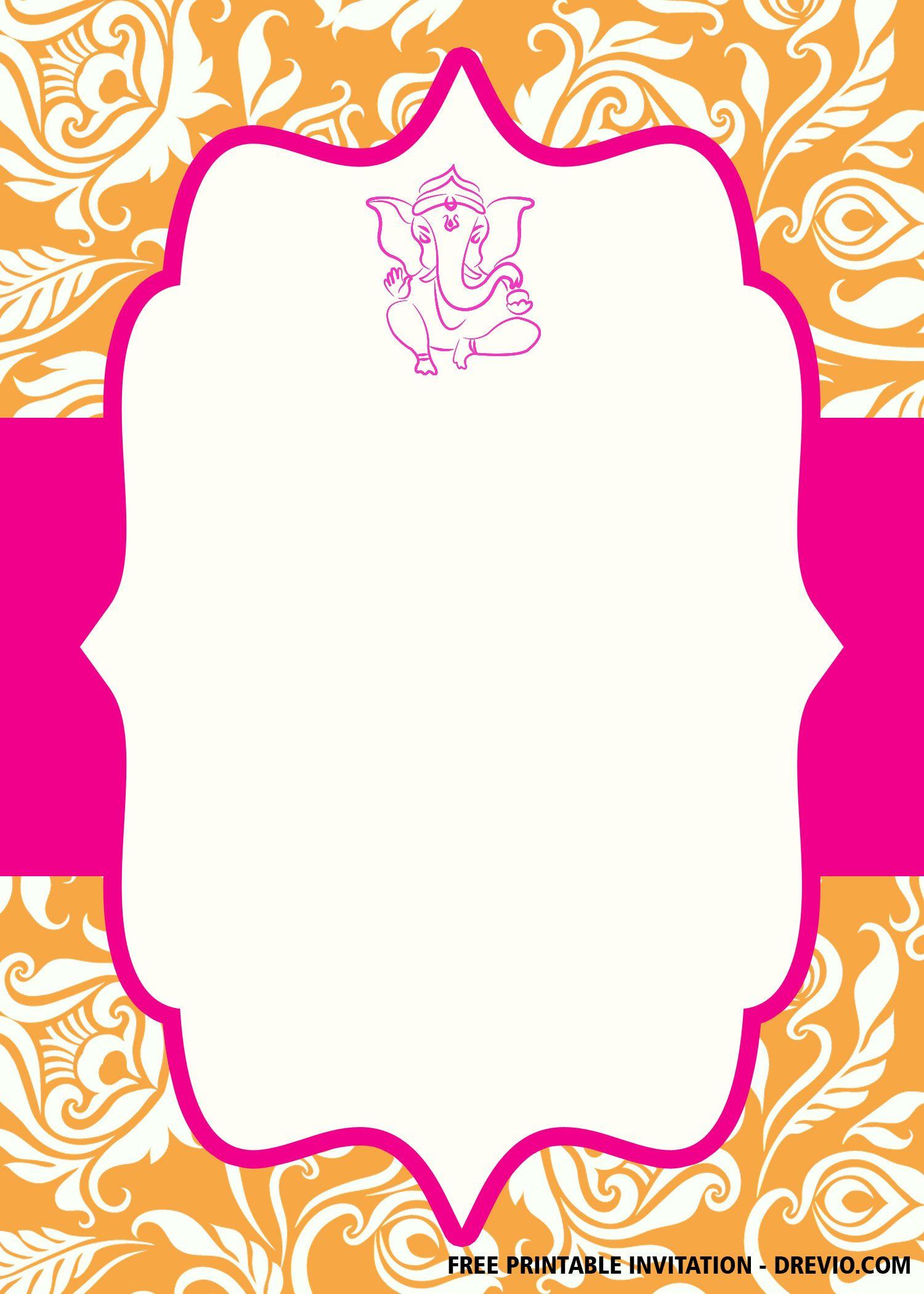 Free Ganesha Wedding Invitation Templates Drevio Ganpati Invitation Card Wedding Invitation Templates Indian Wedding Invitation Cards