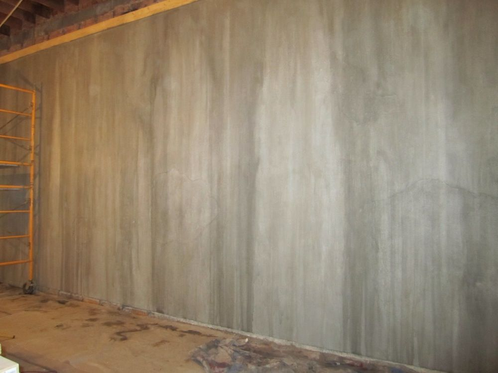 Faux painting cement walls professional faux finish for Concrete basement walls