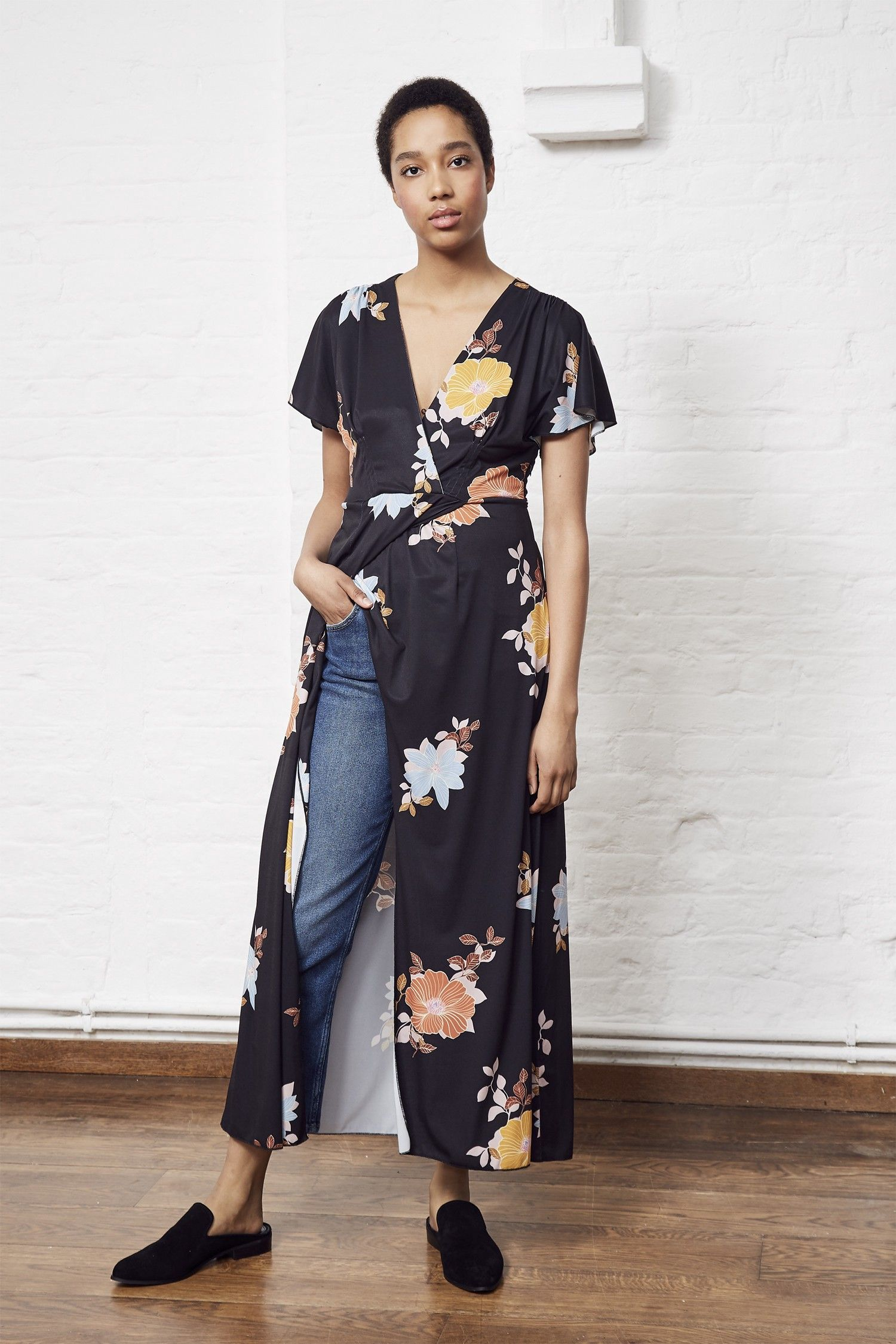 2281f9dd27e French Connection Shikoku Spaced Jersey Maxi Dress - 12   Products ...