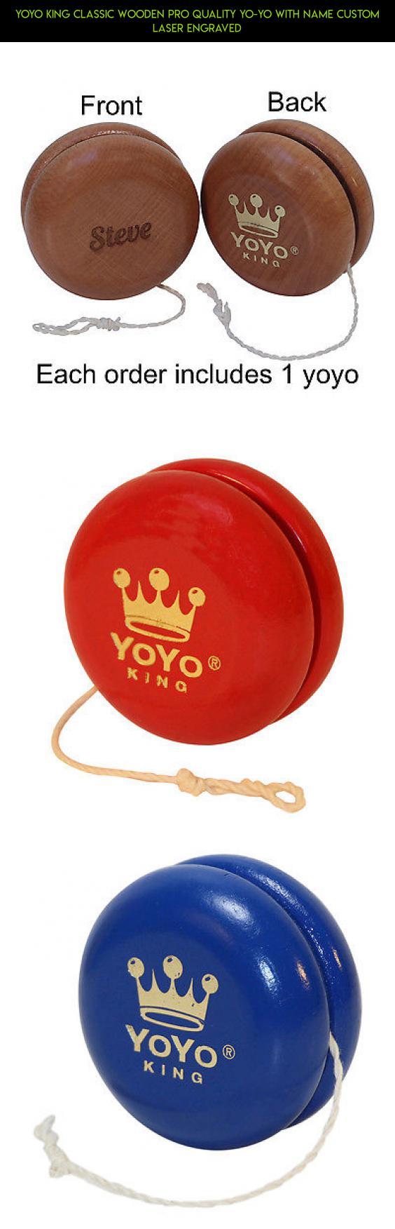 yoyo king classic wooden pro quality yo-yo with name custom