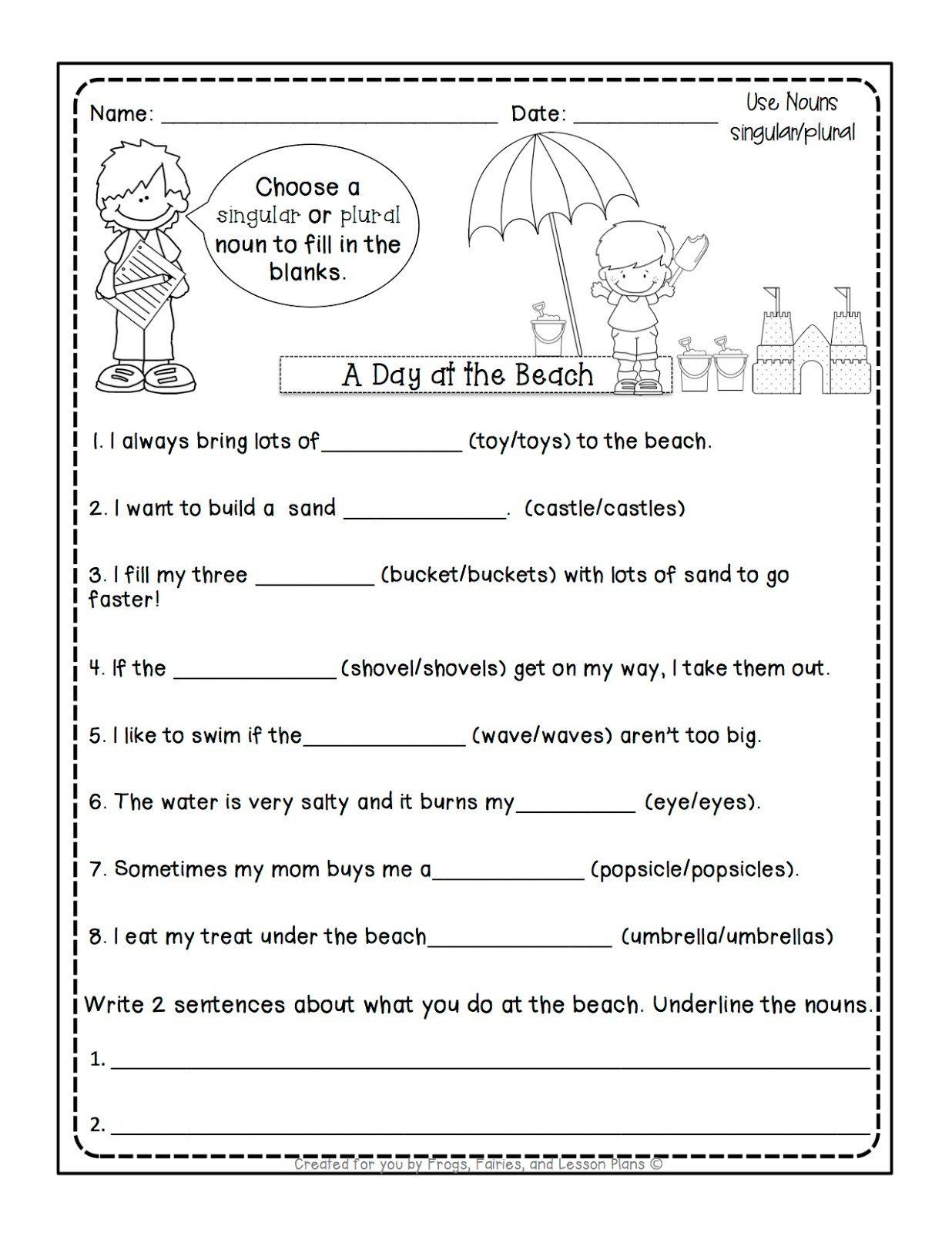 Possessive Nouns 1st Grade Frogs Fairies And Lesson Plans 5 Noun Lessons You Need To In 2020 Possessive Nouns Worksheets Possessive Nouns Nouns Worksheet