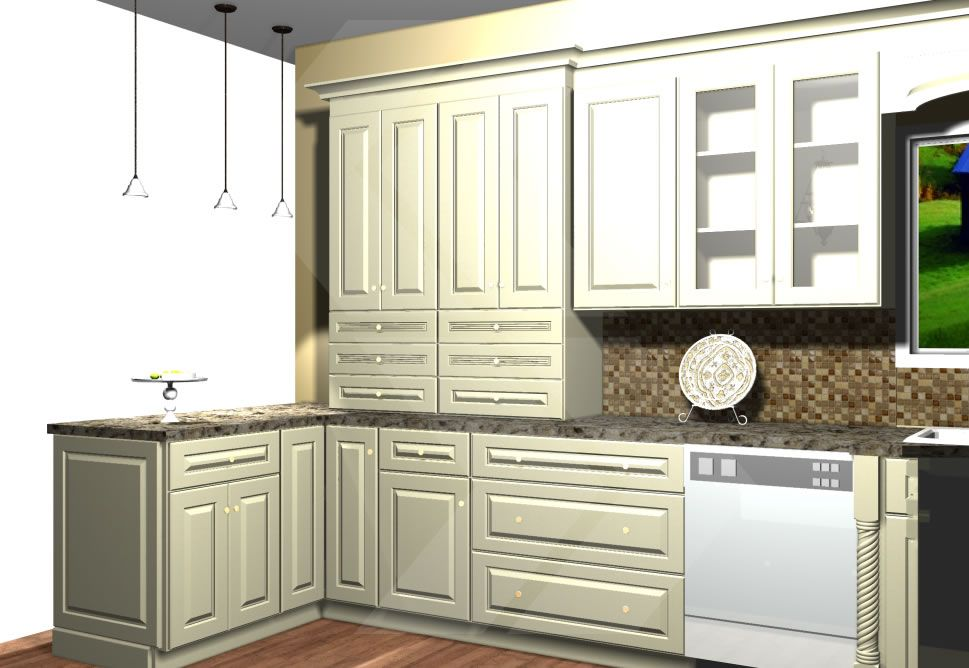 Tall Cabinets With Drawers To End A Run Of Wall Cabinets Very Nice