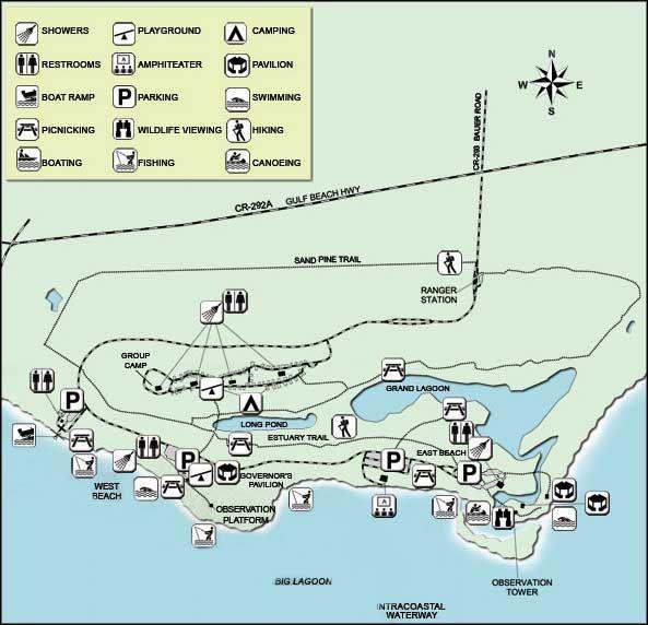 Perdido Key Rv Resort: Map Of Big Lagoon State Park