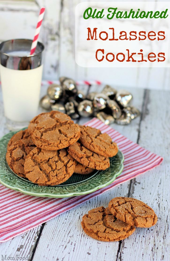 Old Fashioned Molasses Cookies Recipe | Recipes | Pinterest | Cookie ...