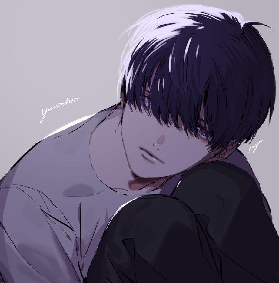 Twitter Kk Ya103 黒髪 イラスト イラスト マッシュ イラスト