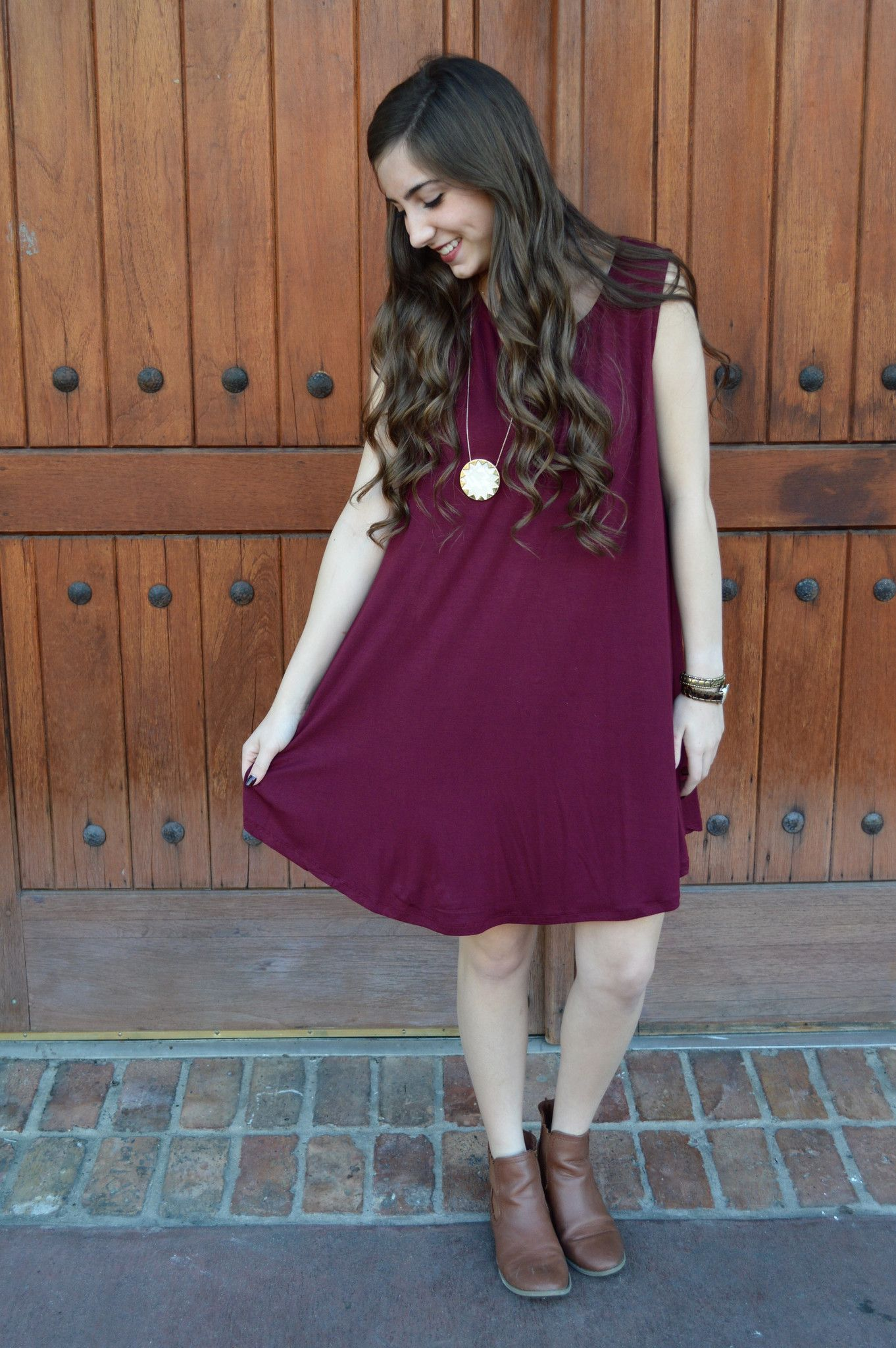 Game Day Tank Dress- Burgundy from Shop Southern Roots TX
