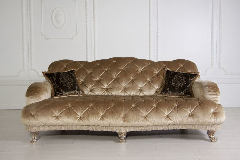 Classic Sofas Is A New Trending Topic: Beautiful Gold Classic Sofas Style  Glossy Golden Leg