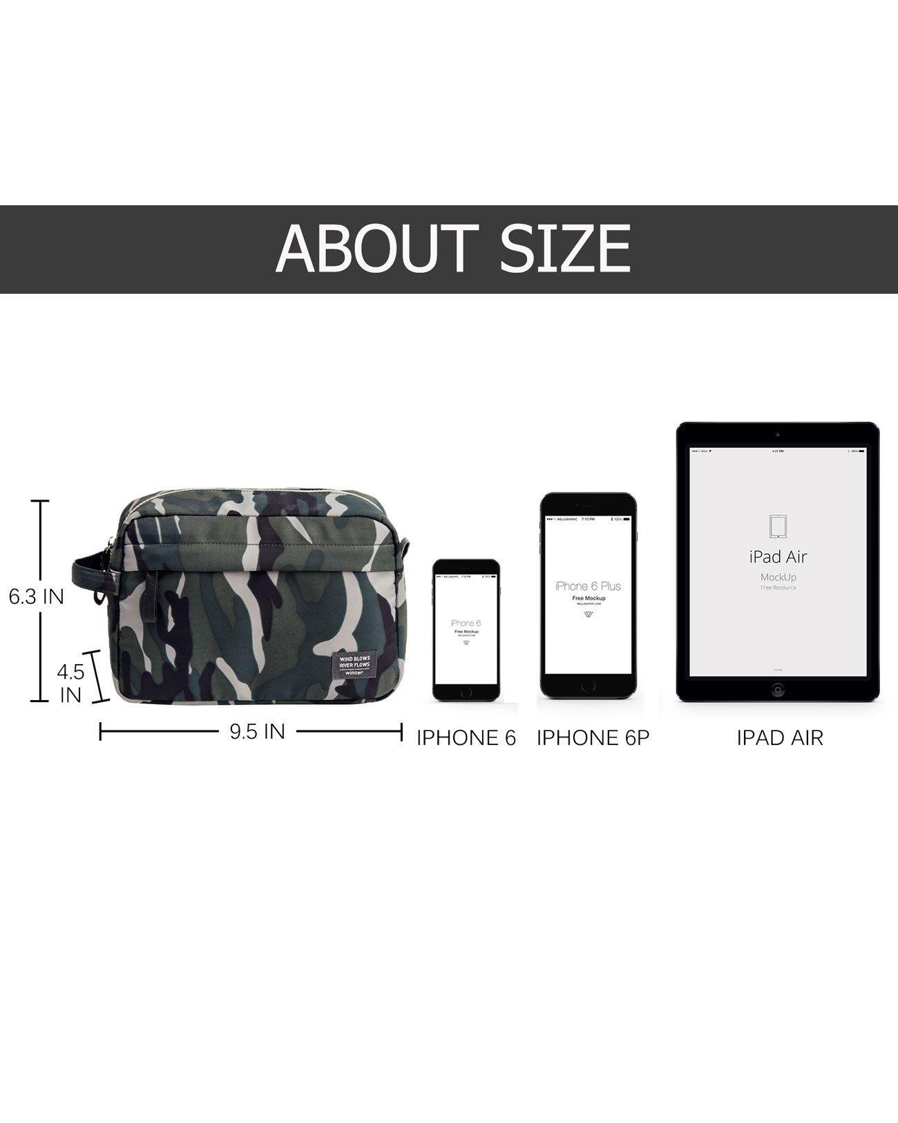 8a3a556713 Canvas Mens Travel Toiletry Bag Waterproof Dopp Kit Bag Cosmetic Makeup  Organizer Bathroom Shower Toiletries Accessories Shaving Bag for Men Women    Gift ...