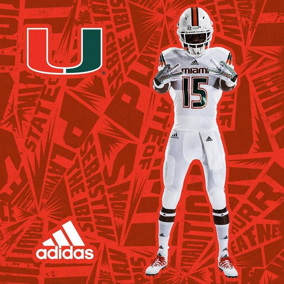 The University Of Miami And Adidas Unveiled The New Hurricanes Football Jerseys At The Fontainebleau S Liv N University Of Miami Florida Football Football Gear