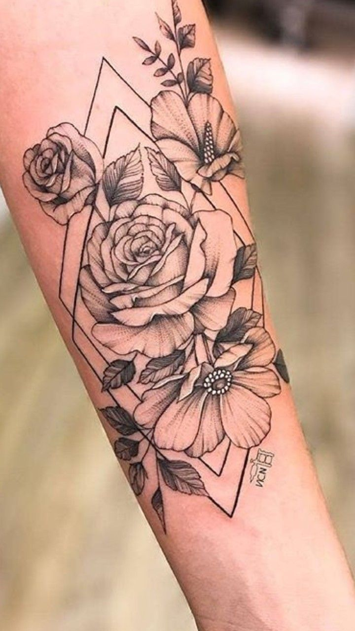 Pin by Sean Anthony on tattoos Floral thigh tattoos