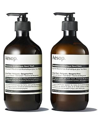 f62128c2793e9 aesop reverence duet - amazing hand soap with exfoliating granules and  amazing Vetiver root fragrance. Put this at every sink in the house.