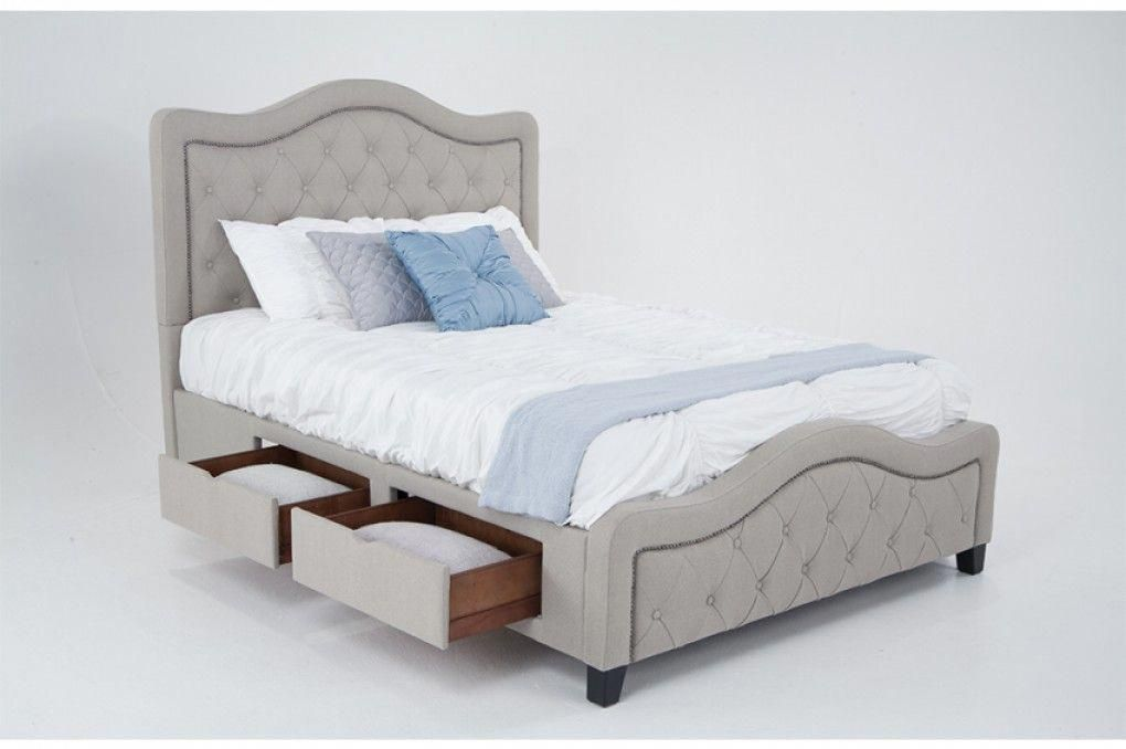Troy Upholstered Storage Bed Beds  Headboards Bedroom Bob\u0027s