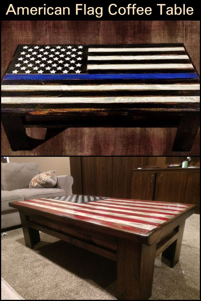 American Flag Pallet Coffee Table With Images Diy Pallet Sofa