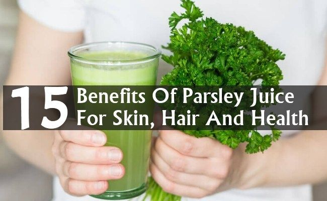 15 Amazing Benefits Of Parsley Juice For Skin, Hair And Health