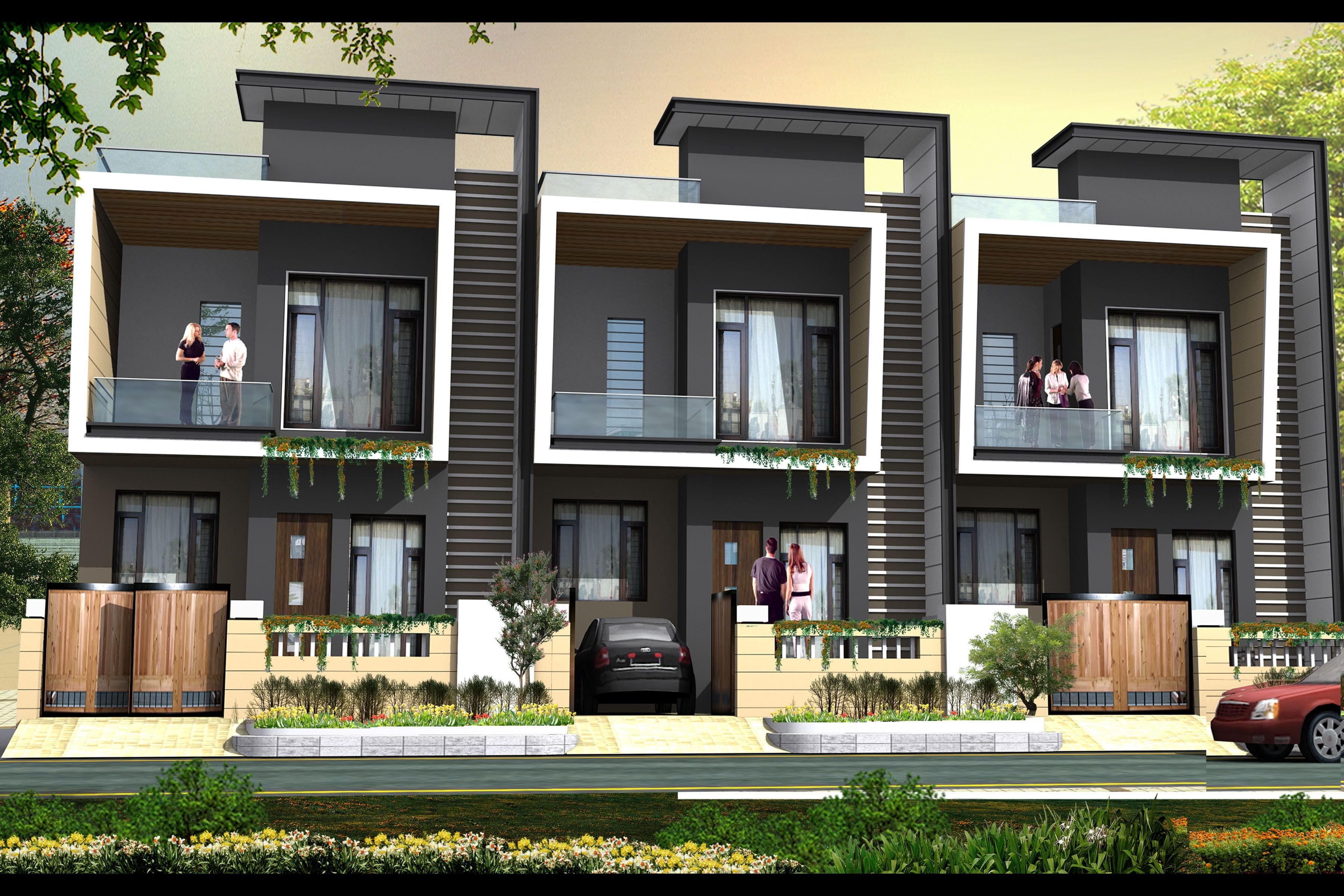 Image Result For Modern Row House Facade Row House Design Small Row House Design Facade House