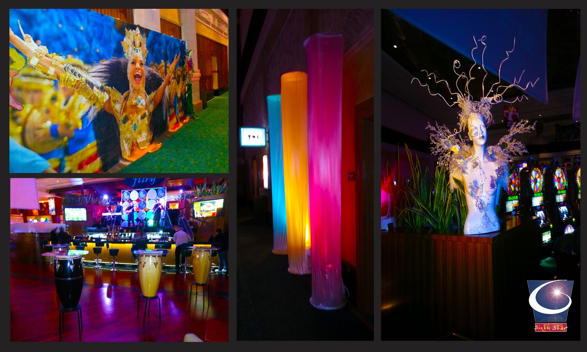 brazillian carnaval theme event decor designed and built in house by