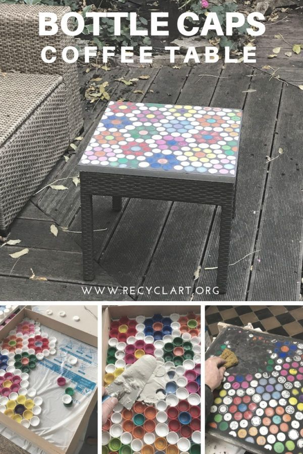 Photo of An old garden coffee table with a broken surface gets a new one… – UPCYCLING IDEAS