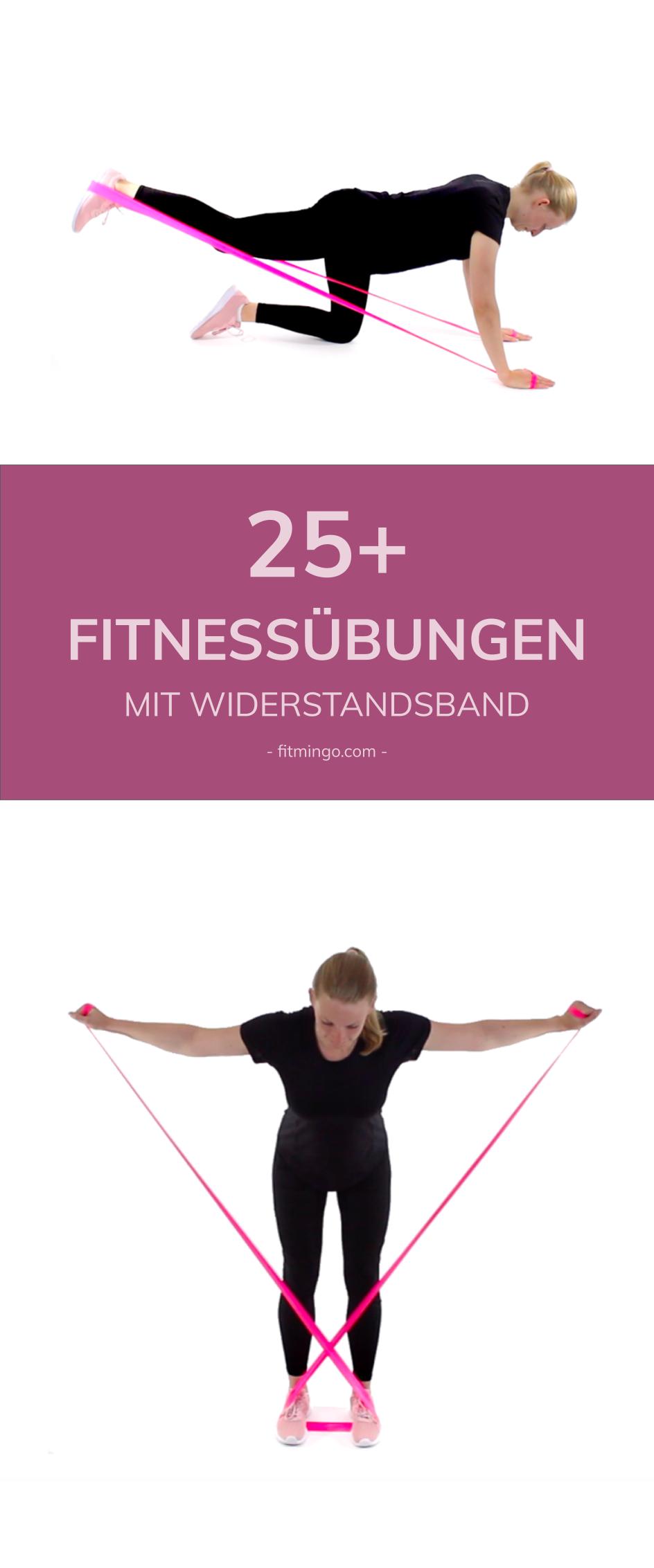 25+ Fitnessübungen mit Widerstandsband