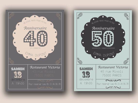 30 drôle invitation cartes police Anniversaire Invitations Chaque âge 40 50 60