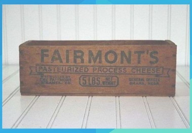 Vintage Wooden Cheese Box / Wooden Crate by HuntandFound on Etsy