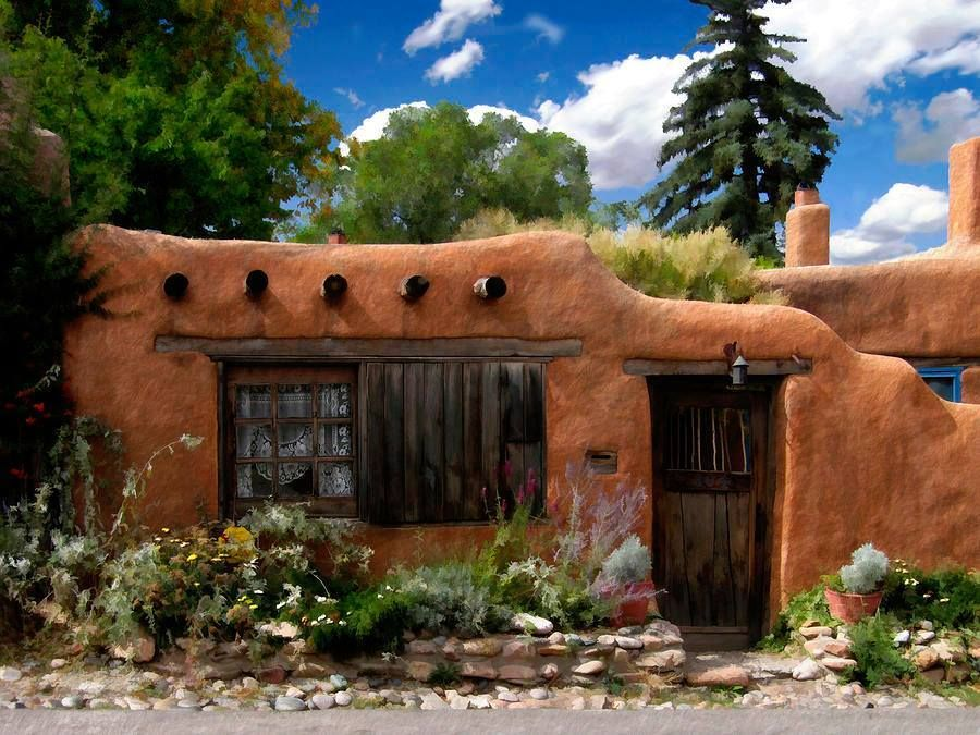 pueblo aka santa f u00e9 style of building too dang cute wow  i