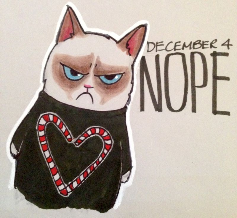 Grumpy Cat Holiday Seater Christmas Candy Cane Grumpy Cat
