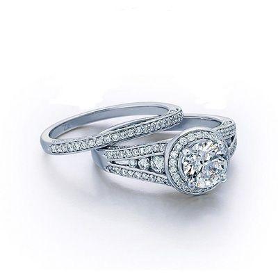 Vintage Inspired Diamond Wedding Set