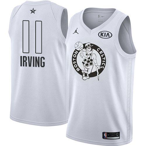 00f52b967922 Nike Celtics  11 Kyrie Irving White Youth NBA Jordan Swingman 2018 All-Star  Game Jersey