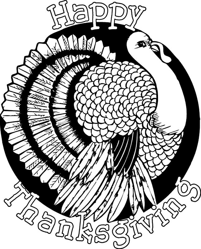 Thanksgiving Coloring Page. | Sketch-drawings! | Pinterest ...