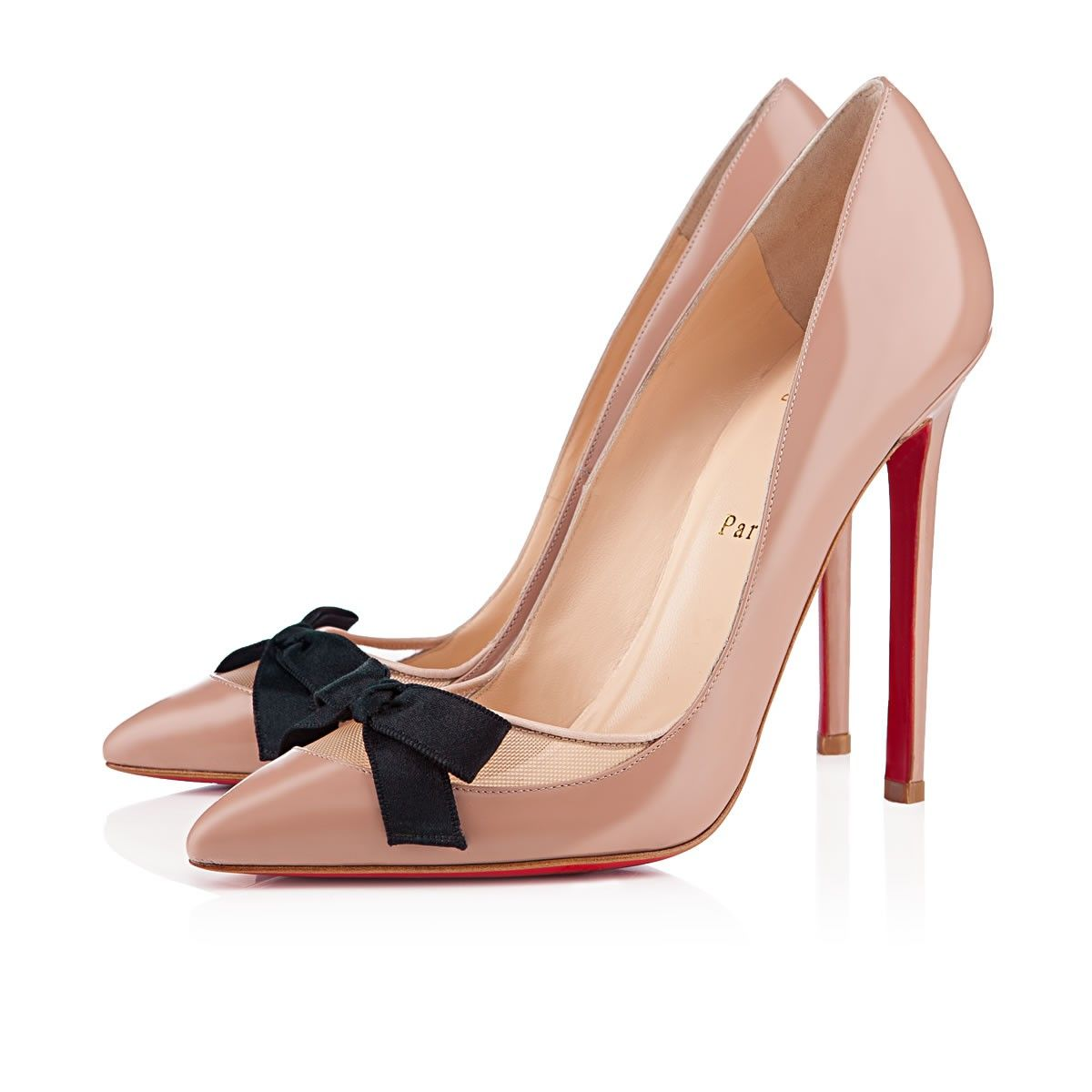 """Christian Louboutin """"Love Me"""" Pump in Nude Patent Leather... I'd love you if you were on my feet!!!"""