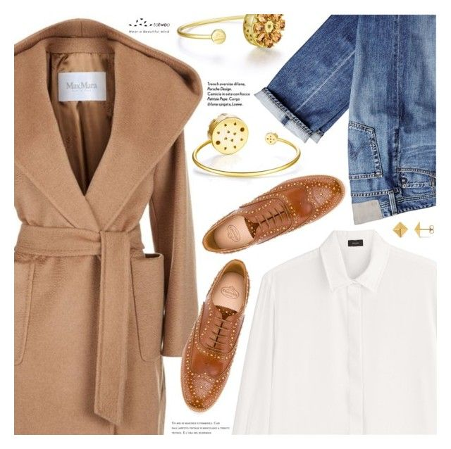 """""""Wear a Camel Coat!"""" by totwoo ❤ liked on Polyvore featuring MaxMara, Joseph, Church's and Allurez"""
