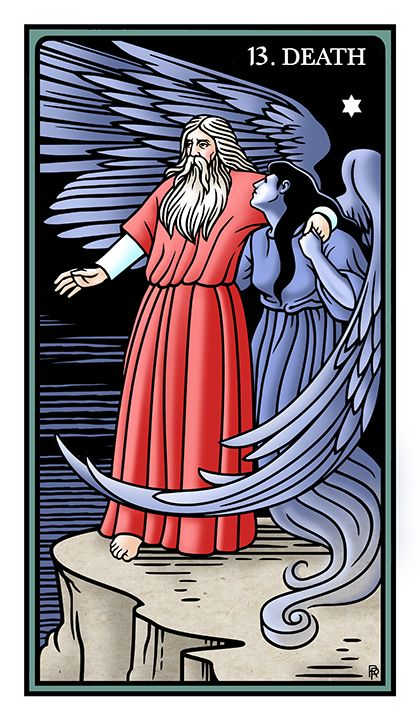 XIII. Death - The Raziel Tarot by Robert M. Place and Rachel Pollack