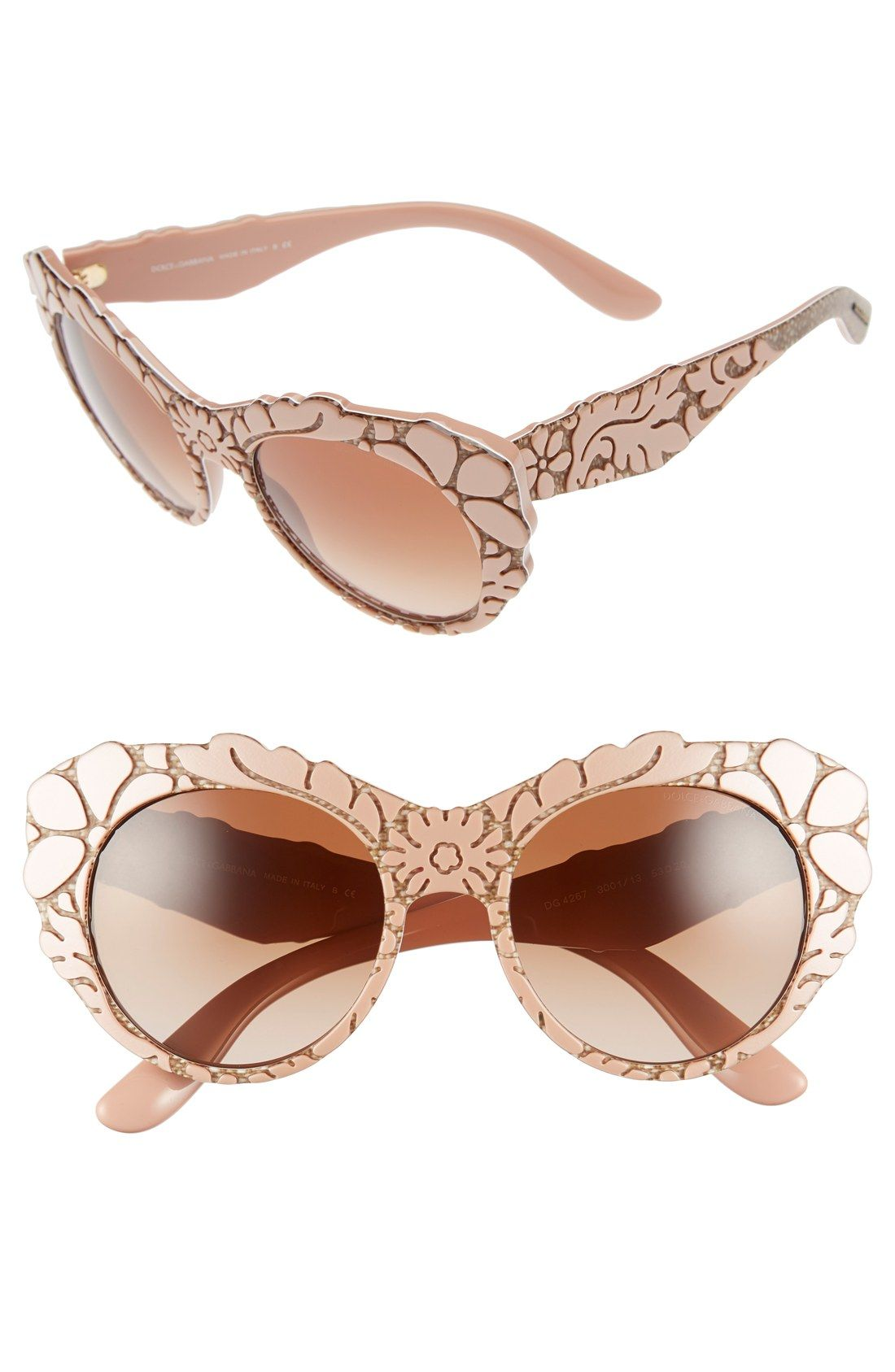 3b965c067a Obsessing over these floral-etched sunnies with eye-catching texture and  retro charm.