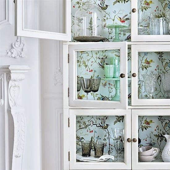 Dining Rooms From The Orient: Decorating The Interior Of A Dining Room Dresser With