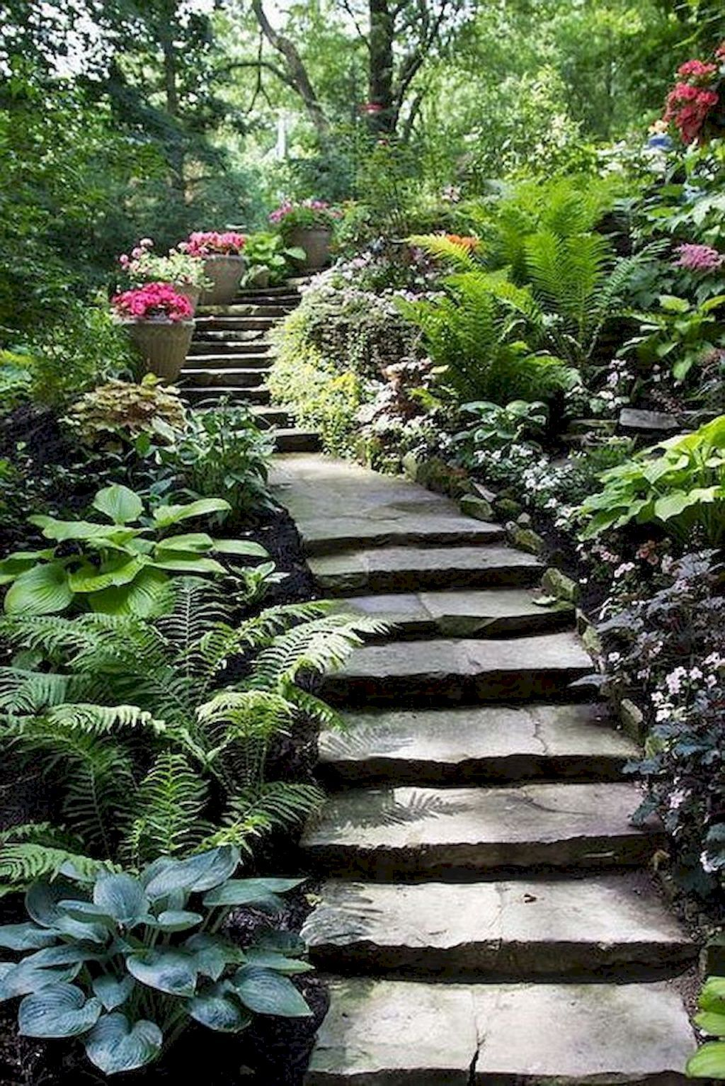75 Stunning Front Yard Pathway Landscaping Ideas With Images Shade Garden Design Garden Stairs Pathway Landscaping
