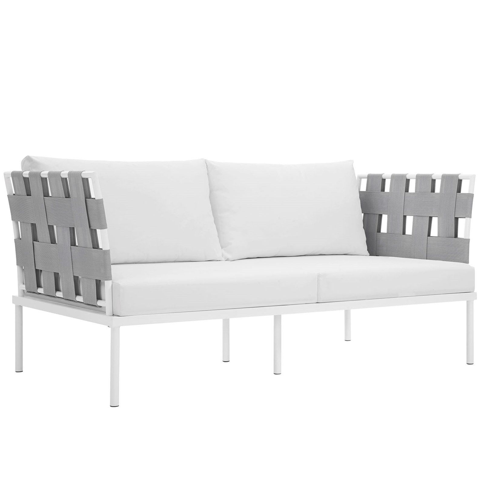 Modern Contemporary Urban Design Outdoor Patio Balcony Loveseat Sofa White Rattan You Can Get More Details By Modern Furniture Sets Patio Loveseat Furniture