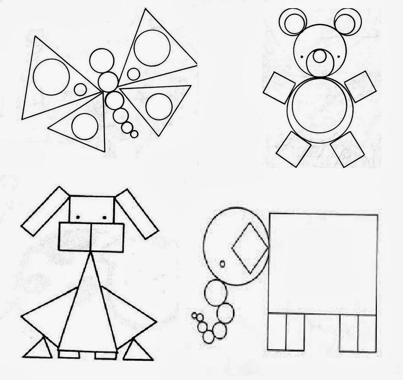 Открытка из фигур геометрические фигуры