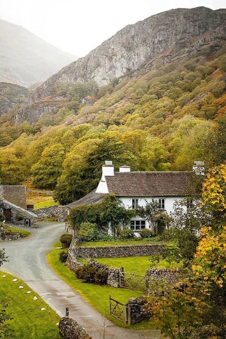"""This charming cottage, built in the 1700s and featured as """"Hill Top"""" in the movie """"Miss Potter,"""" was owned by Beatrix Potter in the 1930s and still houses many of her furnishings. Learn more about the legacy of this noted author and artist in our book, Our Hearts Are in England, available at www.VictoriaMag.com 