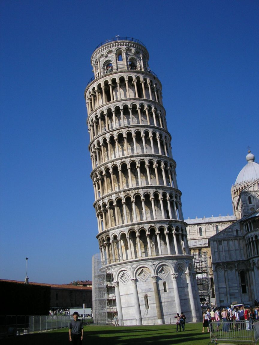 1. In Italian the Leaning Tower of Pisa is Torre pendente di Pisa, built as a freestanding bell tower for the cathedral in Pisa.