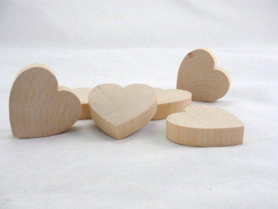Darice Wood Chunky Heart Supplies