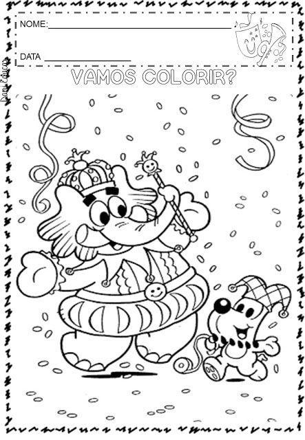 Atividades E Desenhos Para Colorir Carnaval Com Imagens Carnaval Para Colorir Atividades De Carnaval Atividades De Pintura