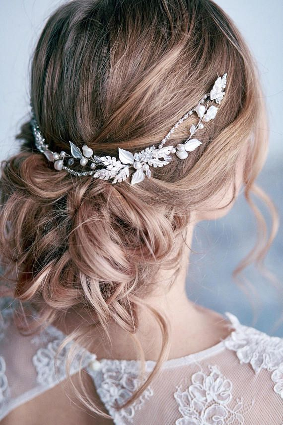 Bridal leaf hair vine Bridal hair piece Bridal leaf headpiece Wedding hair vine Bridal hair accessories Flower hair vine Wedding hair piece