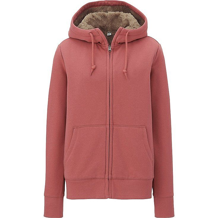 Women fleece-lined full-zip hoodie | Full zip hoodie, Uniqlo and ...