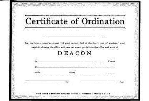 Certificate of Ordination, Deacon Natural Parchment Paper (Pack of 6 - best of ordination certificate free