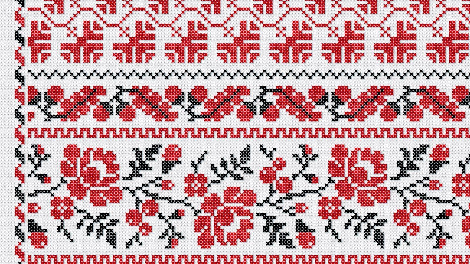 Орнамент вышивка рушник схема