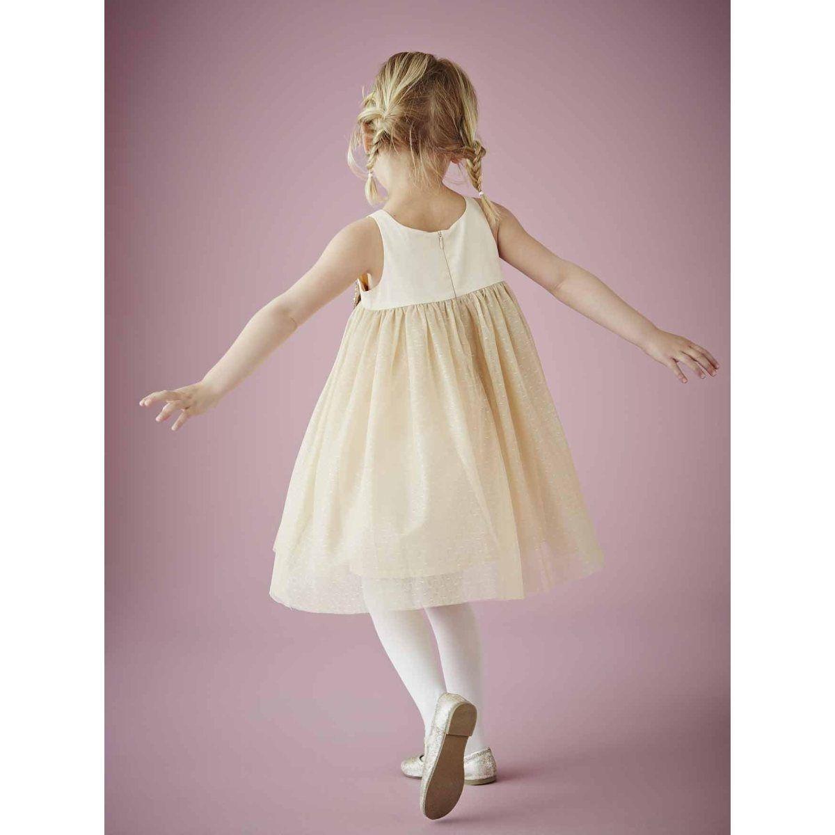 robe de c r monie fille tulle et satin vertbaudet la redoute costume enfant d 39 honneur. Black Bedroom Furniture Sets. Home Design Ideas