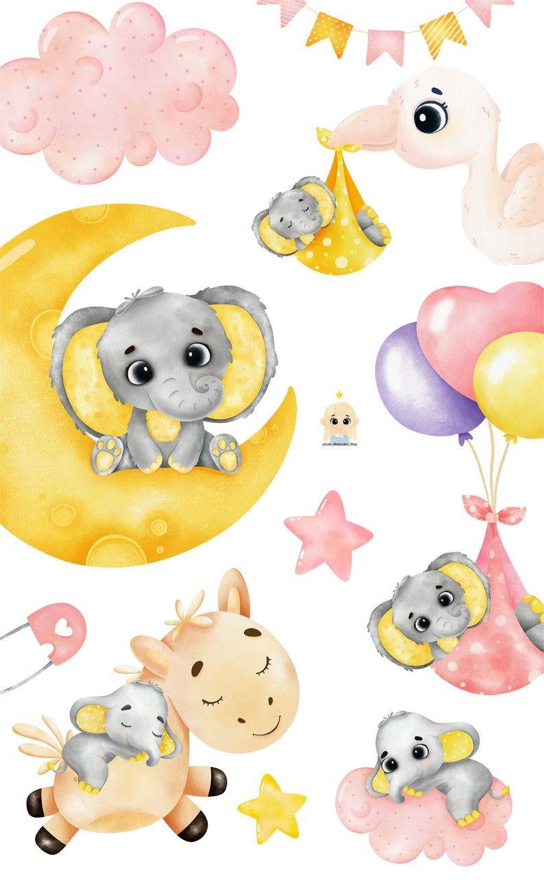 Watercolor Elephant Clipart Nursery Animals Clipart Etsy In 2021 Baby Elephants Art Cute Elephant Cartoon Baby Elephant Cartoon