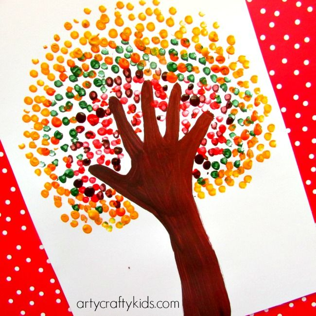 Autumn Handprint Tree Daniel Pinterest Crafts For Kids Crafts