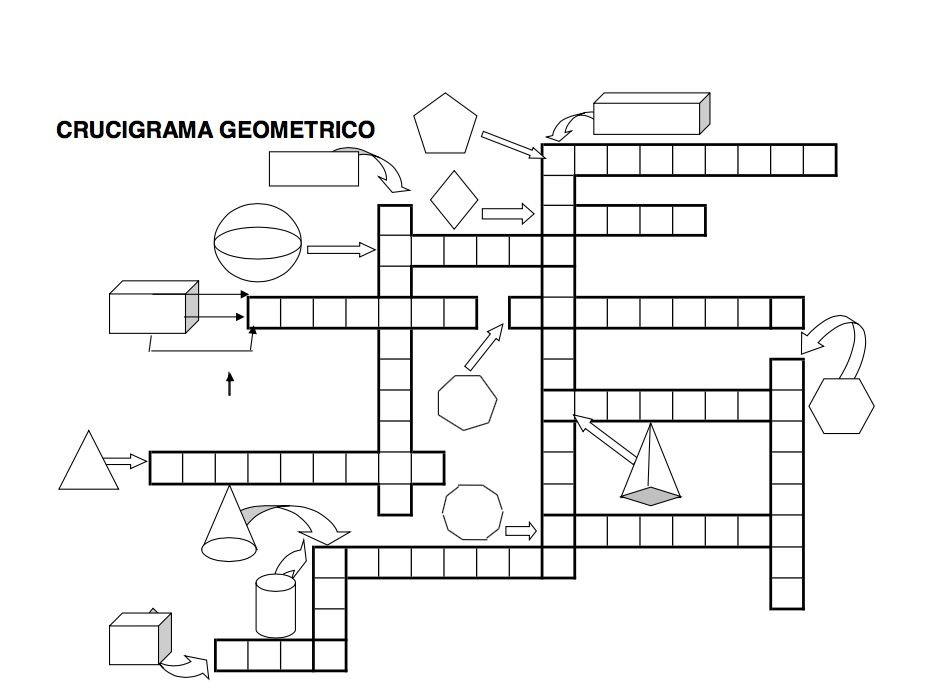 crucigrama geométrico | Crucigramas | Pinterest | Mathe